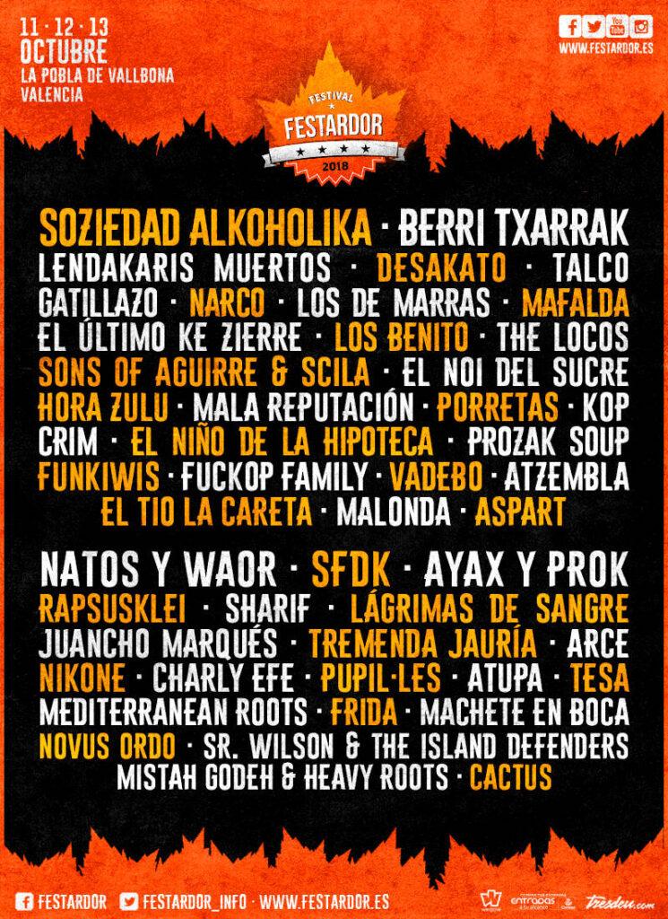 Cartel del festival festardor 2019 de sagunto
